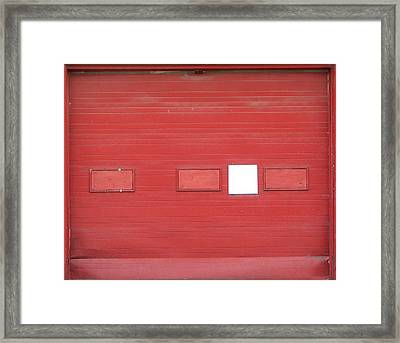 Big Red Door With Accent Framed Print