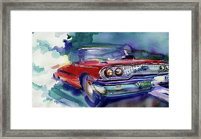 Big Red Framed Print by Evelyn Sprouse Rowe