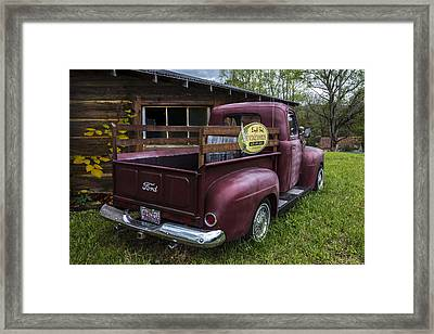 Big Red Ford Truck Framed Print