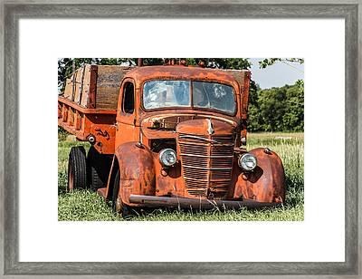 Big Red International Truck Framed Print by Steven Bateson