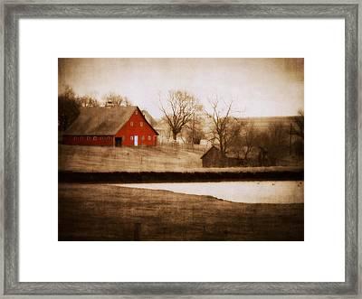 Big Red Framed Print by Julie Hamilton