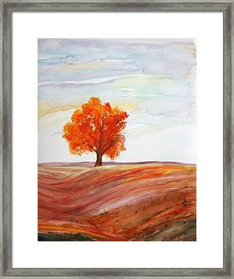 Big Red Framed Print by Julie Lueders