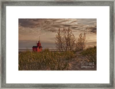 Big Red Lighthouse 5 Visit Www.angeliniphoto.com For More Framed Print by Mary Angelini