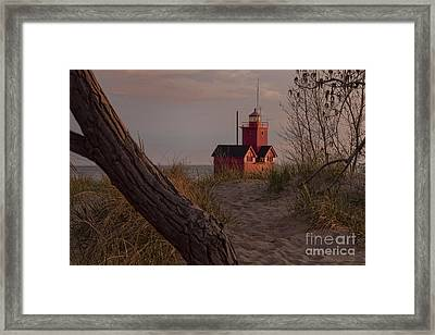Big Red Lighthouse Visit Www.angeliniphoto.com For More Framed Print by Mary Angelini
