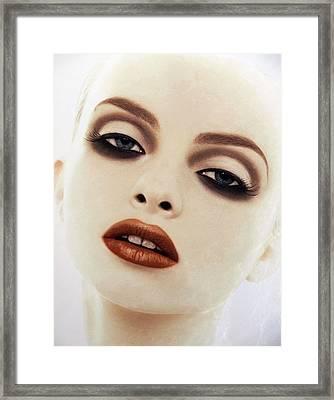 Big Red Lips Framed Print
