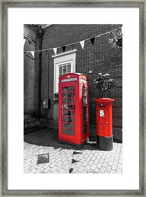 Framed Print featuring the photograph Big Red Little Red by Scott Carruthers