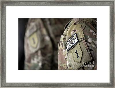 Big Red One Patch On The Uniform Framed Print