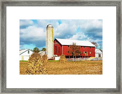 Big Red Pa Barn Framed Print