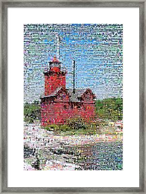 Big Red Photomosaic Framed Print