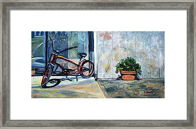 Big Red Sausalito Cruiser Framed Print by Colleen Proppe