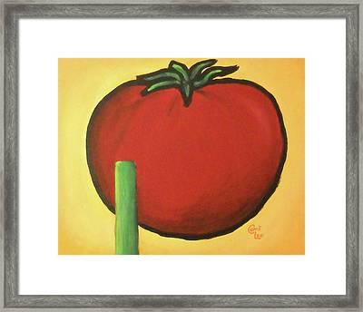 Big Red Tomato Framed Print