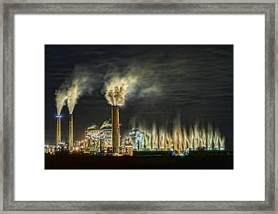 Big Rivers Power Plant Framed Print