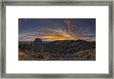 Big Rock Panorama Framed Print by Mark Kiver