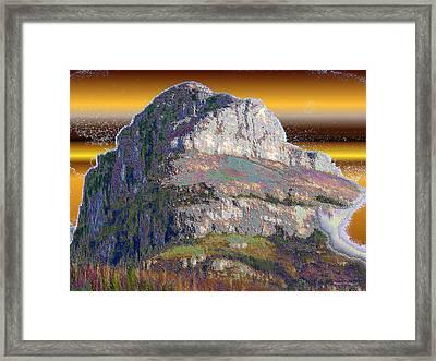 Big Rock Framed Print by Wayne Bonney