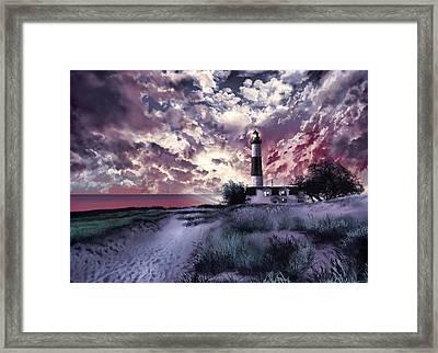 Big Sable Lighthouse 2 Framed Print by Bekim Art