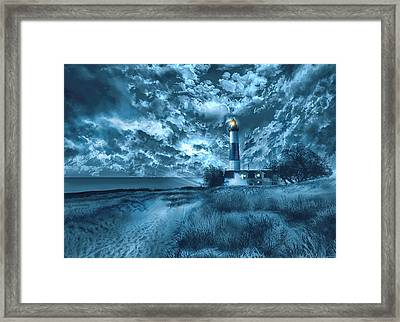Big Sable Lighthouse 3 Framed Print by Bekim Art