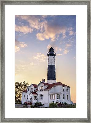 Big Sable Point Light And Keepers House Framed Print by Adam Romanowicz