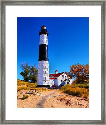 Big Sable Point Lighthouse Framed Print by Nick Zelinsky