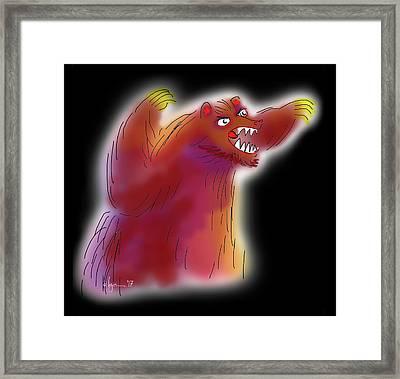 Big Scary Bear Framed Print