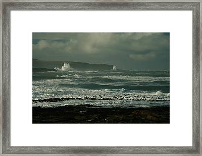 Big Sea. Slope Point Framed Print by Terry Perham
