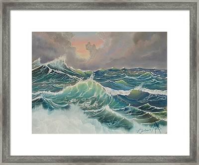 Big Seas Framed Print by Barbara Keel