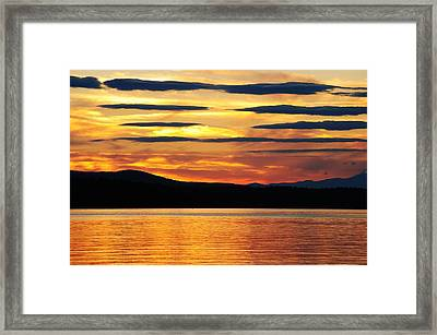 Framed Print featuring the photograph Big Sebago Lake by Paul Noble