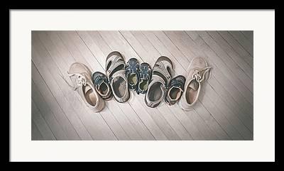 Shoe Strings Framed Prints