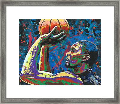 Big Shot Bosh Framed Print by Maria Arango