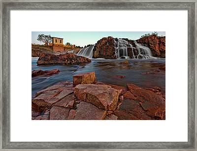 Big Sioux River Falls Framed Print by Dan Mihai