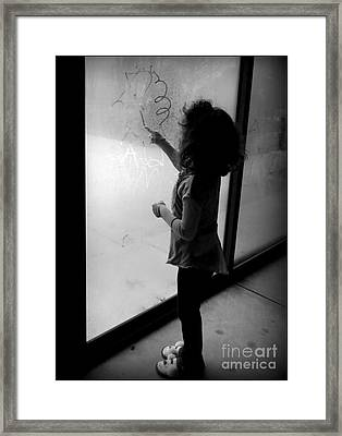 Big Sissy And Her Artwork Framed Print by Diane M Dittus
