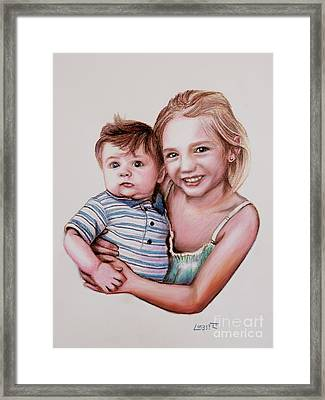 Big Sister Framed Print by Dave Luebbert