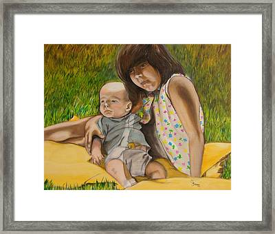 Big Sister Framed Print by John Stevens