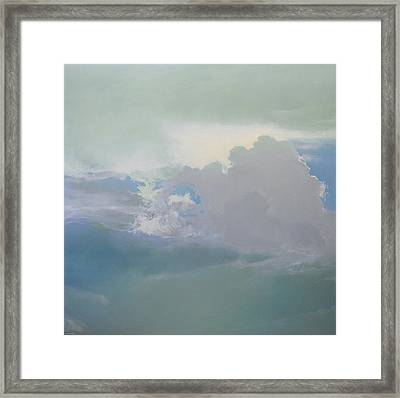 Framed Print featuring the painting Big Sky 2 by Cap Pannell