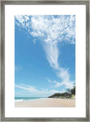 Big Sky Beach Framed Print