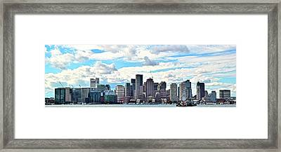 Big Sky Boston Pano Framed Print by Frozen in Time Fine Art Photography