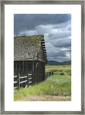 Big Sky Cabin Framed Print