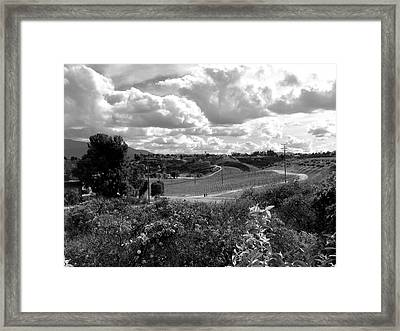 Big Sky In Socal Framed Print