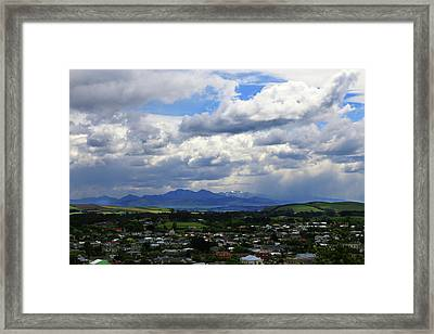 Big Sky Over Oamaru Town Framed Print