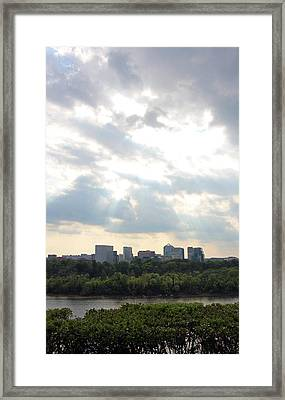 Big Sky Over Rosslyn Framed Print by Cora Wandel