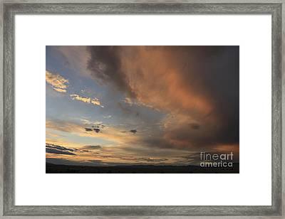 Big Sky Sunset 2 Framed Print by Carolyn Brown