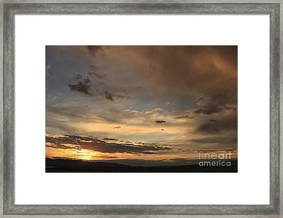 Big Sky Sunset Framed Print by Carolyn Brown