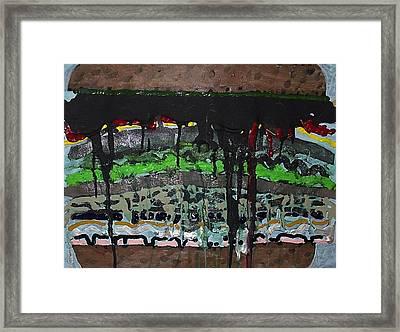 Big Sloppy Sandwich Framed Print by William Douglas