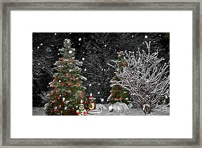 Big Snow Flakes    Holiday Card 6 Framed Print by Robert Joseph