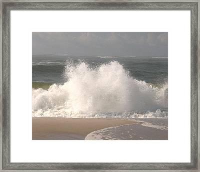 Big Splash Framed Print by Dennis Curry