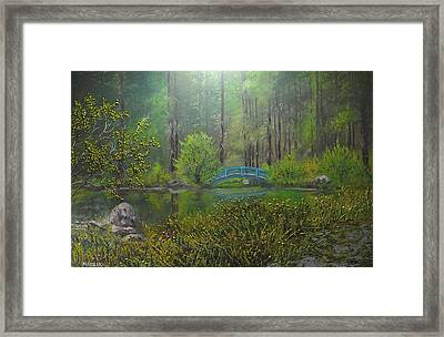 Big Springs Gardens Framed Print