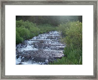 Big Springs Waterfall Framed Print by Susan Pedrini