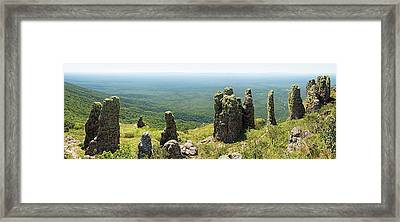 Big Standing Monolitic Rocks At Serrania De Chiquitania Framed Print by Dirk Ercken
