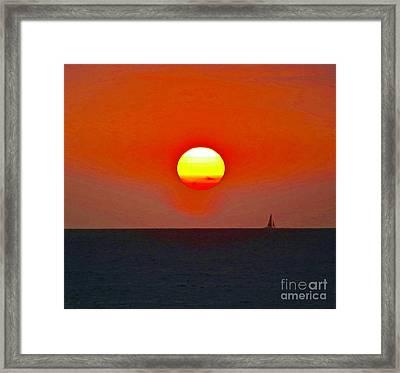 Big Sun Framed Print