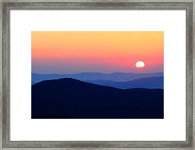 Big Sunrise Off Blue Ridge Parkway Framed Print