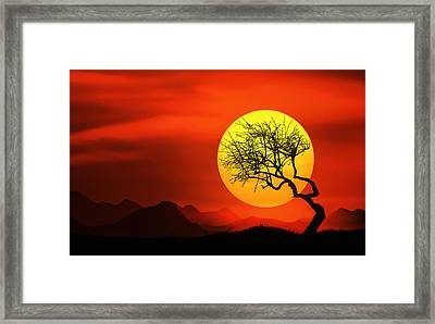Big Sunset Framed Print